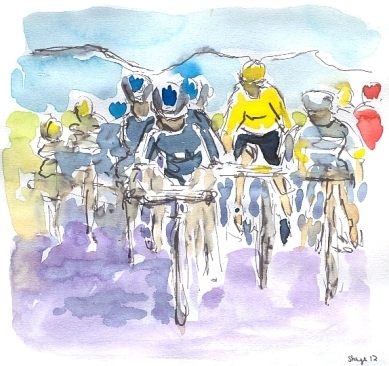 Head of the peloton, by Maxine Dodd