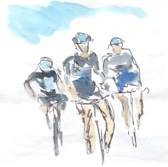 Team Sky and blue sky