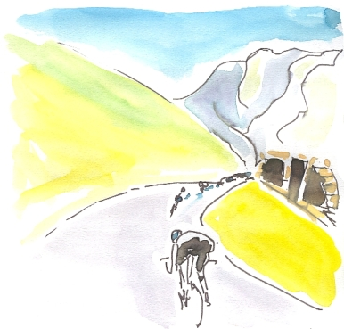 cycling art, tour de france, Tourmalet