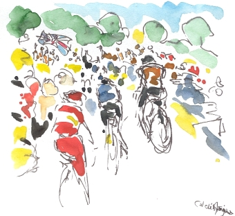 The back of the peloton