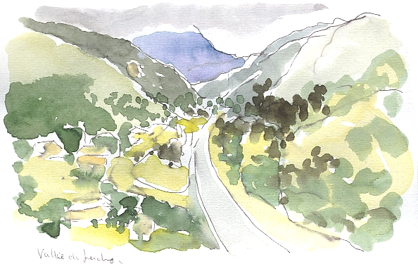 Flying over the Luchon valley
