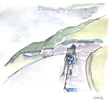 Valverde leads descent to the mist