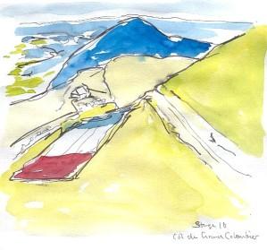 Flag as big as a mountain