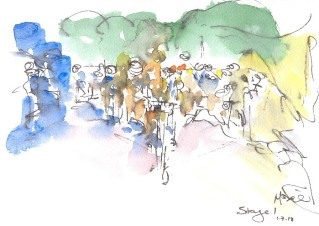Race through the crowds
