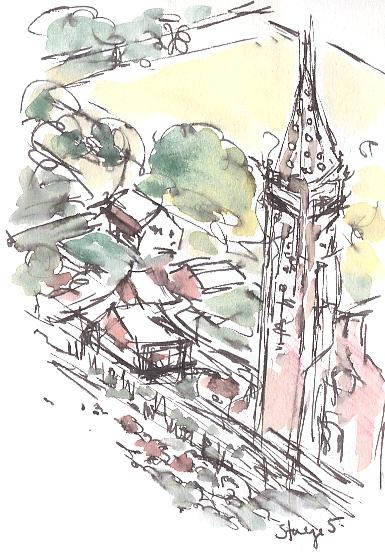 Passing by the church of Saint-Rémi