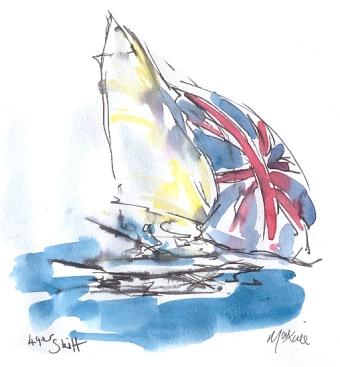 49er Skiff - Team GB - full sail - SOLD