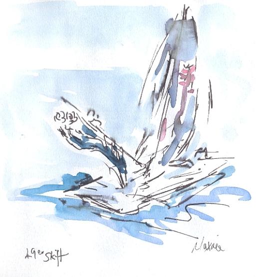 49er Skiff - Team GB - sailing away