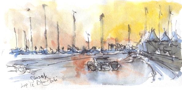 Sun on fire in Abu Dhabi