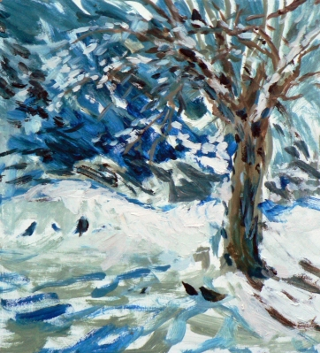 Food under the plum tree, (January 2013), Maxine Dodd