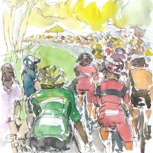 Following the Peloton