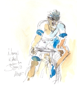 cycling art, tour de france, kittel