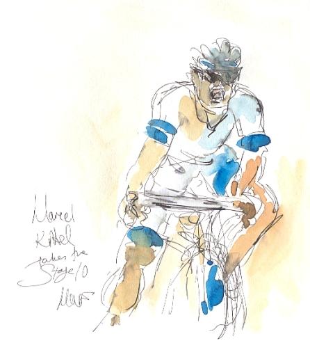 cycling art, tour de france, kittel