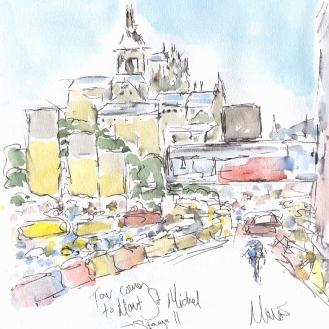 Tour comes to Mont St Michel