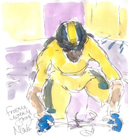 Chris Froome strong off the mark