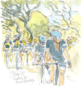 SOLD - Heading for Mont Ventoux, by Maxine Dodd, SOLD