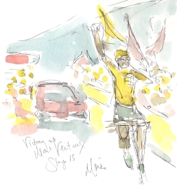 Victory at Mont Ventoux