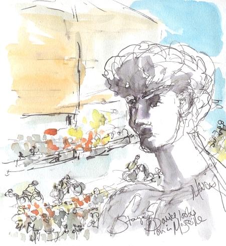 David looks down in Marseilles
