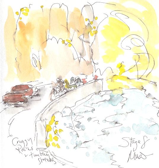 Craggy rocks and tumbling streams