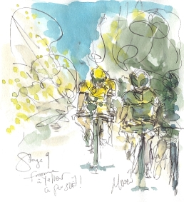 Froome in yellow, in pursuit!