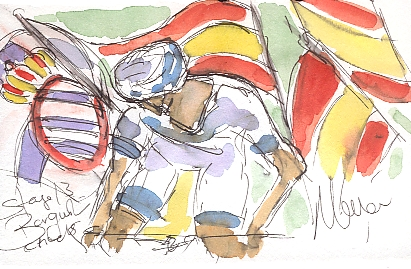 Barguil checks behind! by Maxine Dodd