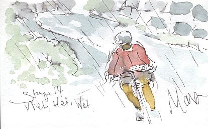 Battling through the rain
