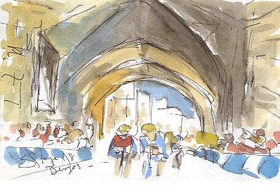 Under the arches at Burgos