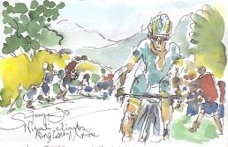 Nibali climbs the Angliru