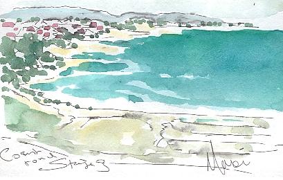 The coast road, by Maxine Dodd