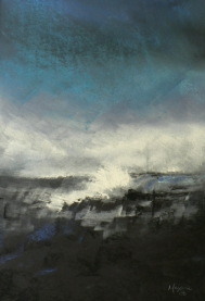 The Wave - pastel on paper
