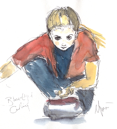 Blue-eyed curling