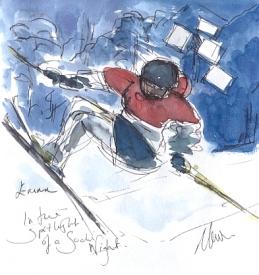 In the spotlight of a Sochi night