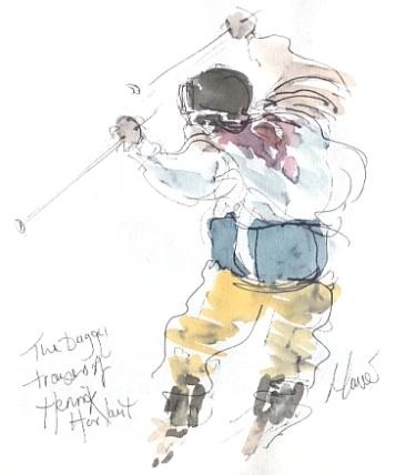 The baggy trousers of Henrik Harlaut