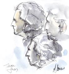 Three faces, £150