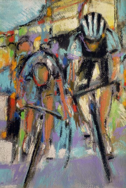 Cycling Art, Pastel, Fabulous Finish! by Maxine Dodd