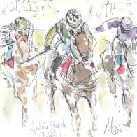 Horse racing art, Melling Steeple Chase