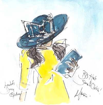 Big hat, small clutch, Ladies' Day