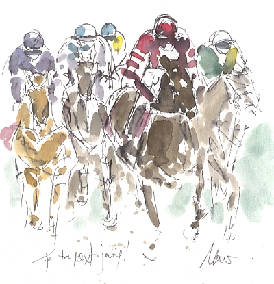 Horse racing art, Aintree