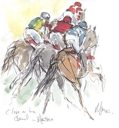 Horse racing art, Aintree