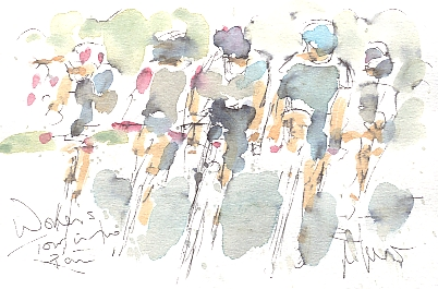 Women's Tour: Riding in the wet