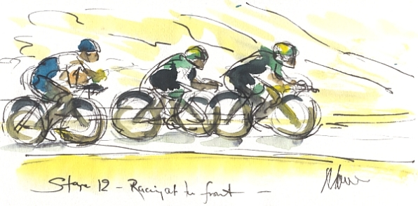 Racing at the front