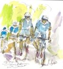 Team Astana descend