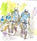 Team Astana descend