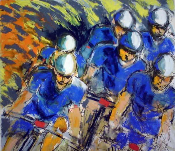 cycling art,