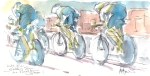 Maxine Dodd painting, cycling