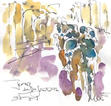 Maxine Dodd, painting Sky cycling team