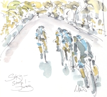 Maxine Dodd, painting Team Sky