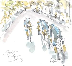 Maxine Dodd, painting Team Sky
