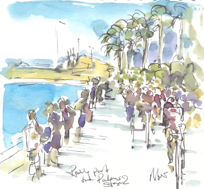 Maxine Dodd, cycling painting