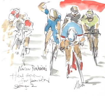 Bouhanni, head down for the win ,by Maxine Dodd, SOLD