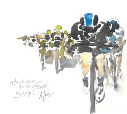 Maxine Dodd painting, Head down for the descent